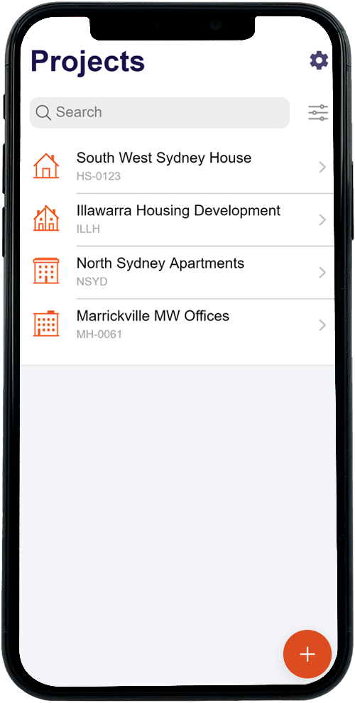 Construction Defects Projects App Page